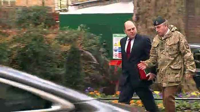 Ministers arrive for National Security Council meeting