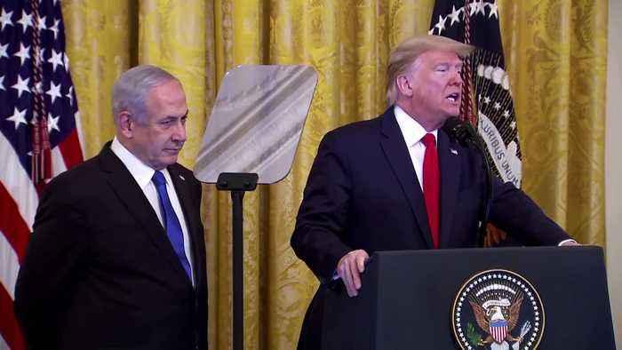 Trump: Israel taking 'giant step' toward peace in new plan
