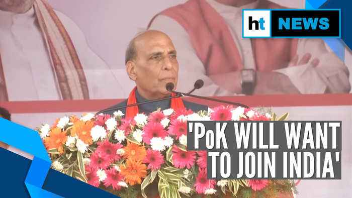 If we talk to Pak, it'll only be on PoK: Defence Minister Rajnath Singh
