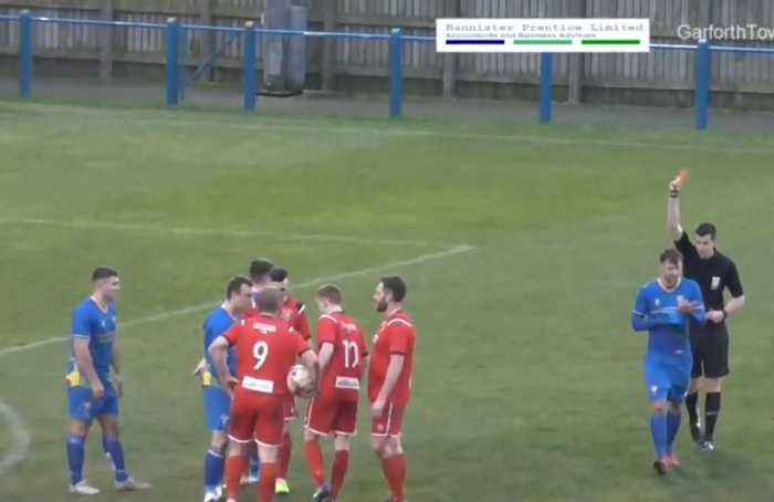 Gone in 12 seconds: Non-league player sees red after bizarre 'double foul'