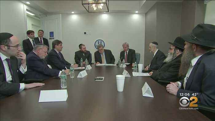 AG Barr Meets With Jewish Leaders In Brooklyn