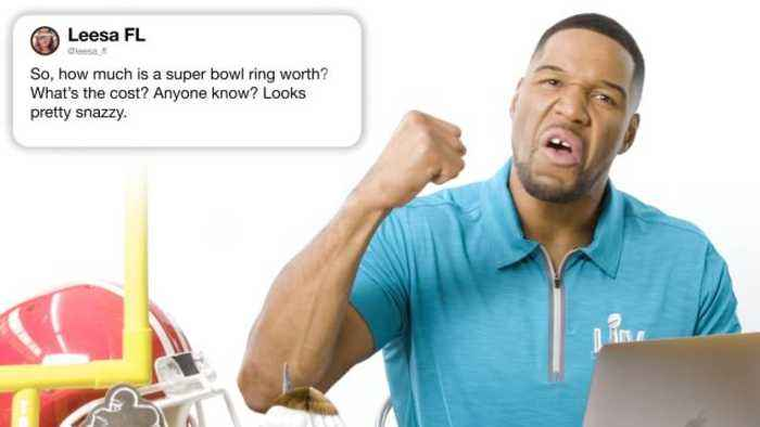 Michael Strahan Answers Super Bowl Questions From Twitter