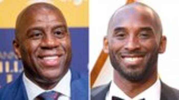 Magic Johnson Pays Tribute to Kobe Bryant on 'Jimmy Kimmel Live!'   THR News