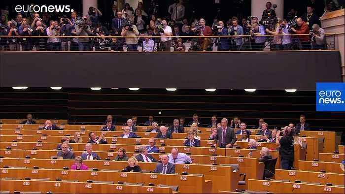 Watch: Nigel Farage in flag-waving row during Brexit bill debate