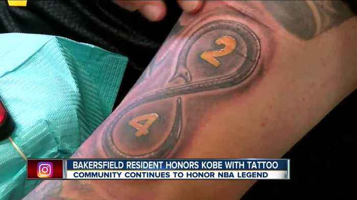 Bakersfield resident honors Kobe Bryant with tattoo of NBA legend's jersey numbers