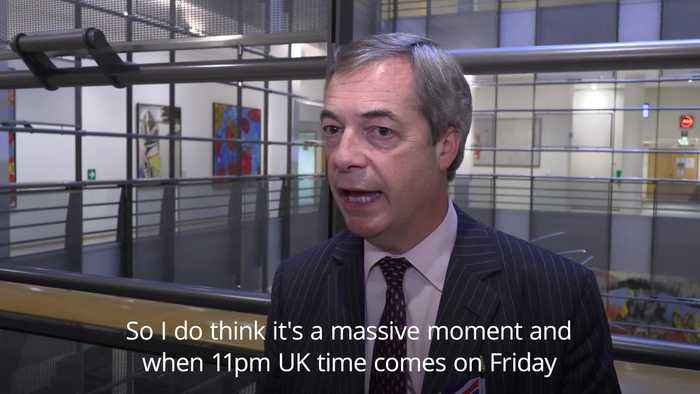Farage will 'miss the drama' at EU Parliament
