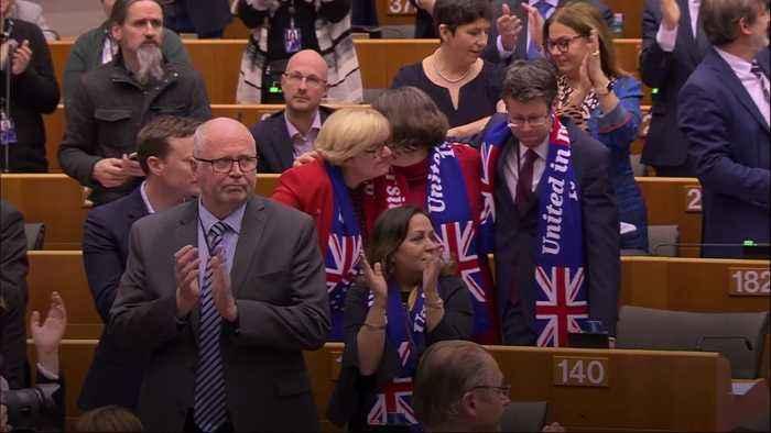 European Parliament backs Boris Johnson's Brexit deal