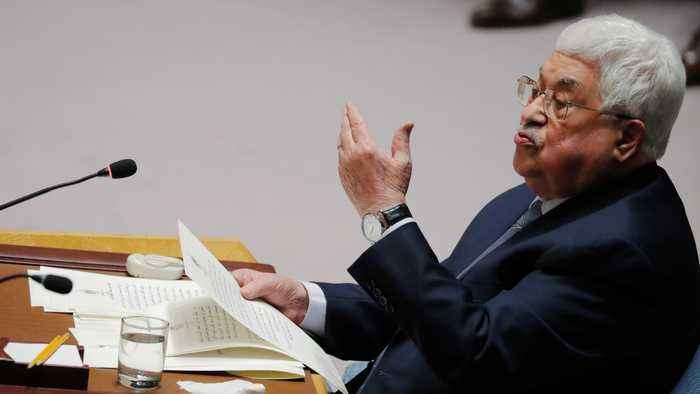 Palestinian president to take Trump's Middle East plan to UN