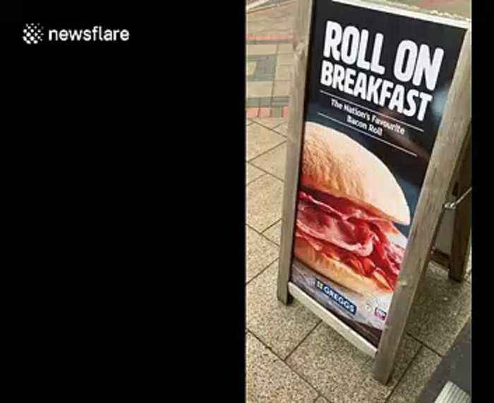 Man changes Greggs sign to say 'bacon cob' instead of 'roll' sparking debate over what it's actually called