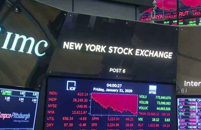 Virus fears, weak data spark 600-pt Dow plunge