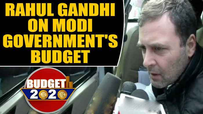 Budget 2020 : Rahul Gandhi said on Modi government's budget, nothing for youth | Oneindia News