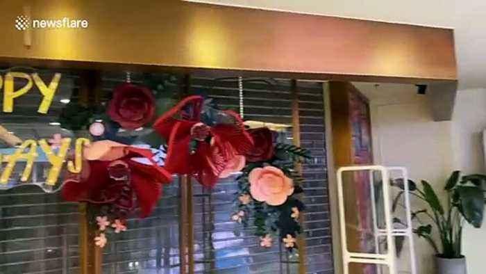 China Virus: Outbreak leaves Beijing shopping mall deserted