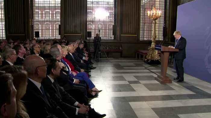 Johnson talks tough on post-Brexit trade deal