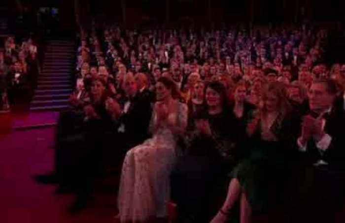 Rebel Wilson delivers gag-filled speech at the BAFTAs