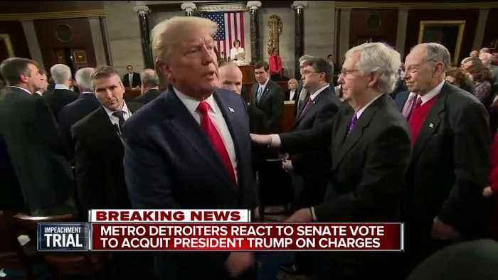 Metro Detroiters react to Senate vote to acquit President Trump