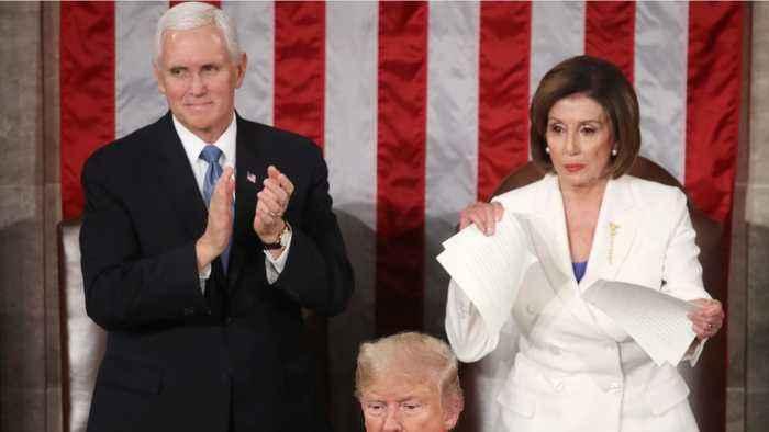 House Speaker Nancy Pelosi Ripped Up Trump's Speech