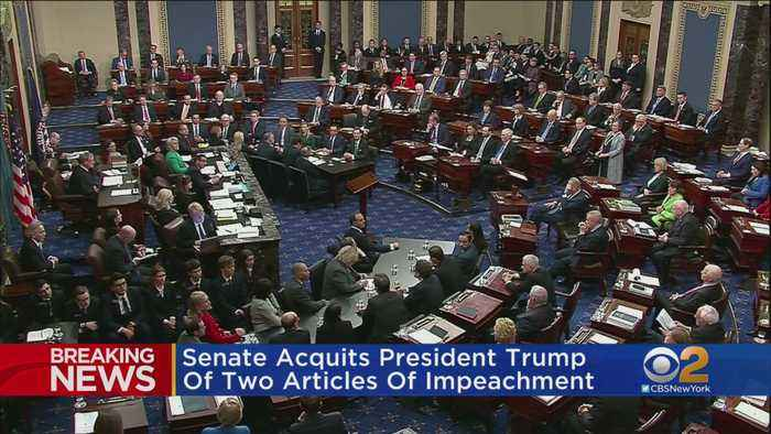 Senate Acquits President Trump Of Two Articles Of Impeachment