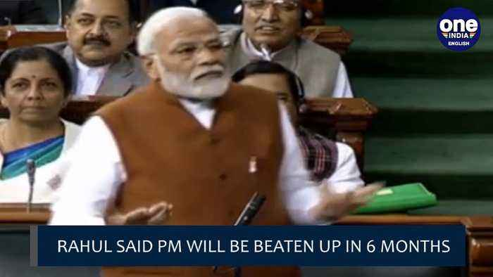 PM Modi targets Rahul Gandhi over his 'beat with sticks' remark| OneIndia News