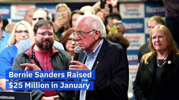 Bernie Sanders Raised $25 Million in January
