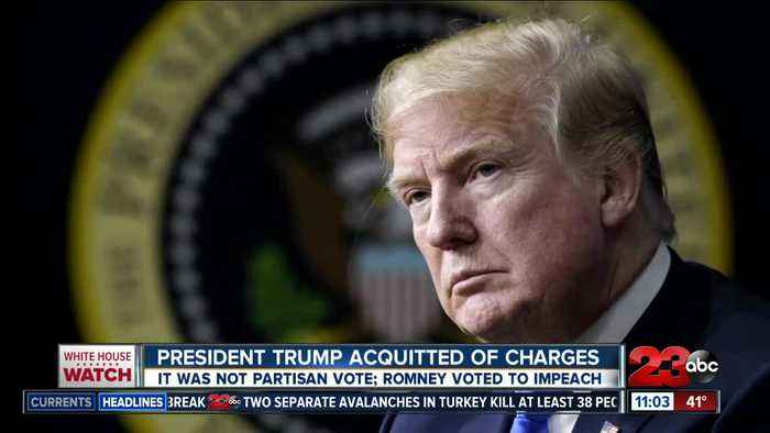 President Donald Trump acquitted of charges