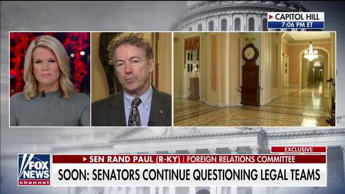 Rand Paul reacts to Justice Roberts censoring his question at Senate impeachment trial