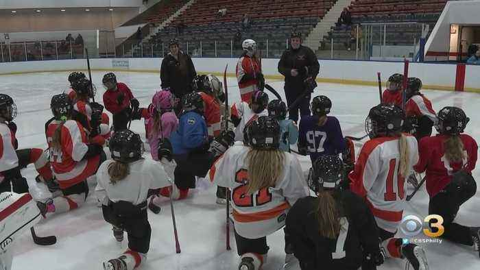 Hockey Players Celebrate National Girls And Women In Sports Day At University Of Pennsylvania