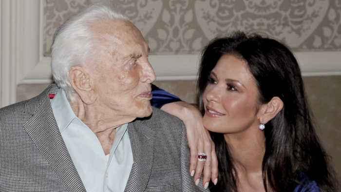 Catherine Zeta-Jones shares heartbreaking tribute to father-in-law Kirk Douglas