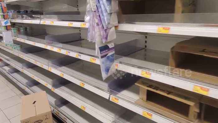 Hong Kong panic-buying sparks run on toilet paper, rice and noodles