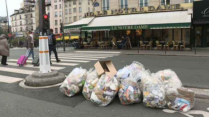 Paris no longer perfumed as striking rubbish collection workers leave stink across city