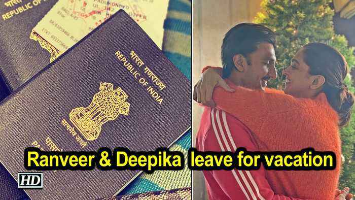 Ranveer Singh and Deepika Padukone leave for vacation