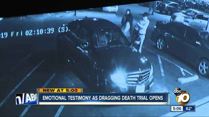 Emotional testimony as dragging death trial opens