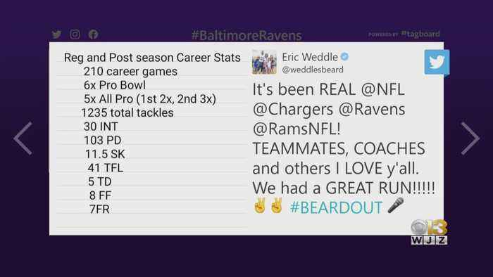Former Raven Eric Weddle Retires From NFL