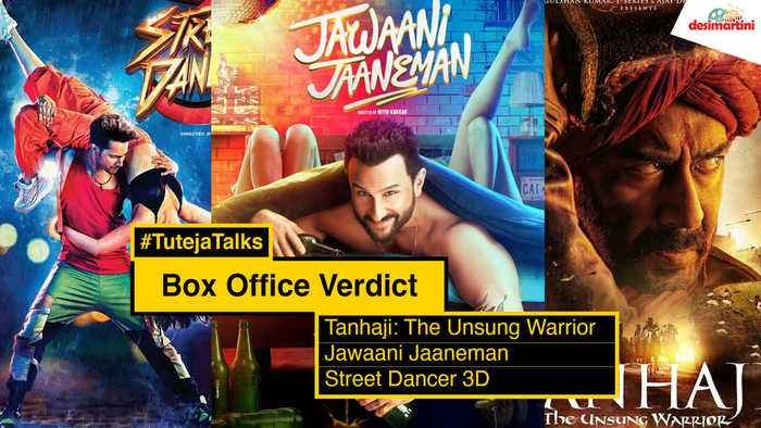 Box Office Verdict Jawaani Jaaneman, Street Dancer 3D, Tanhaji #TutejaTalks