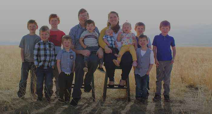Couple from Utah have 10 children in 10 years