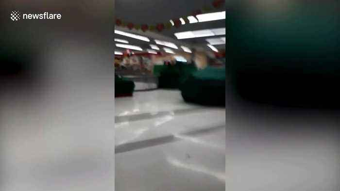 Moment families dive for cover as gunman enters Thai shopping mall