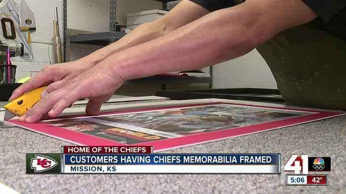 Chiefs fans preserve Super Bowl memorabilia