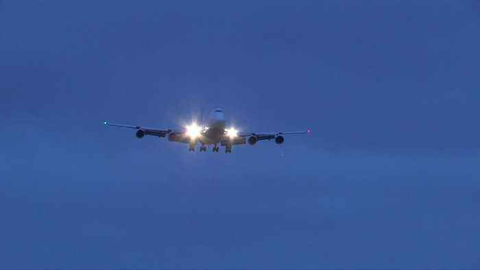 Coronavirus: Plane carrying Britons from Wuhan arrives at Brize Norton