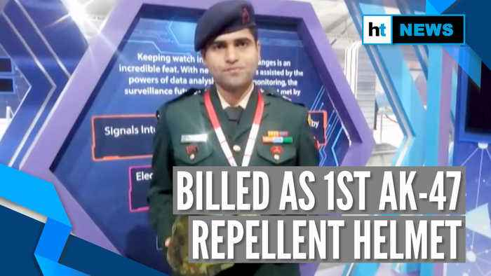 Watch: Indian Army Major develops bulletproof helmet to stop AK-47 fire