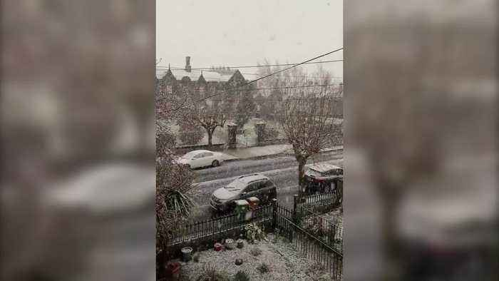 Snow sweeps into UK and Ireland after Storm Ciara