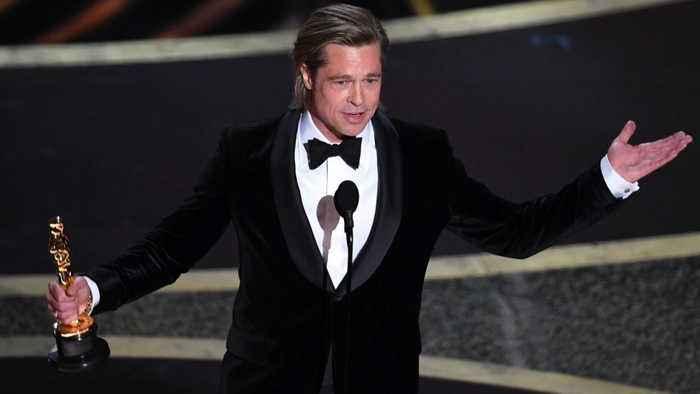 Brad Pitt denies hiring writers to pen his awards show speeches