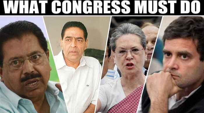 Congress draws a blank, huge cut in vote share, blame game begins  | OneIndia News