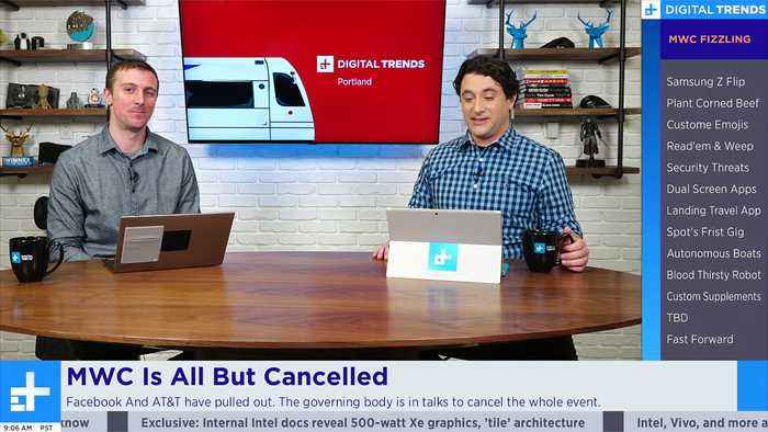 WMC All But Cancelled + Samsung Z Flip & Galaxy S20   Digital Trends Live 2.12.20