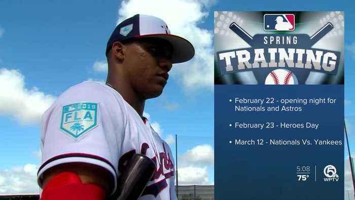 World Series Champion Washington Nationals arrive for spring training