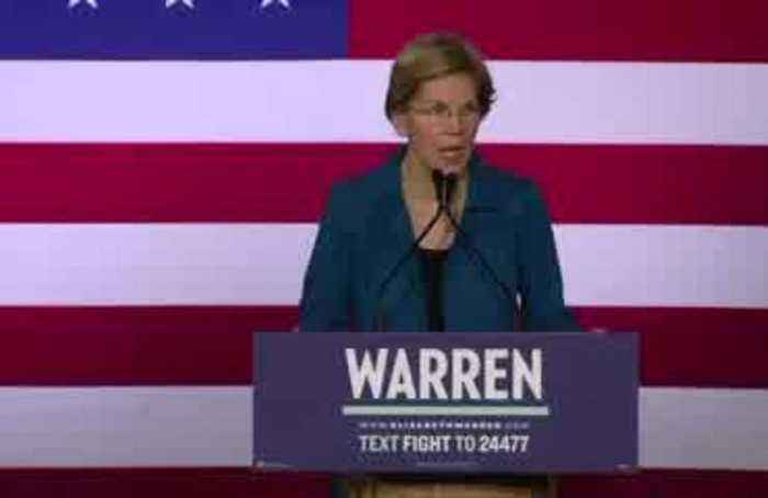 Warren in New Hampshire: 'We are just getting started'