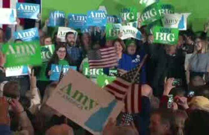 'We have beaten the odds' - Klobuchar hails strong New Hampshire finish