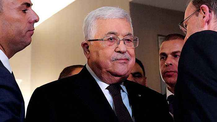 Palestinian president urges world to reject 'Swiss cheese' plan