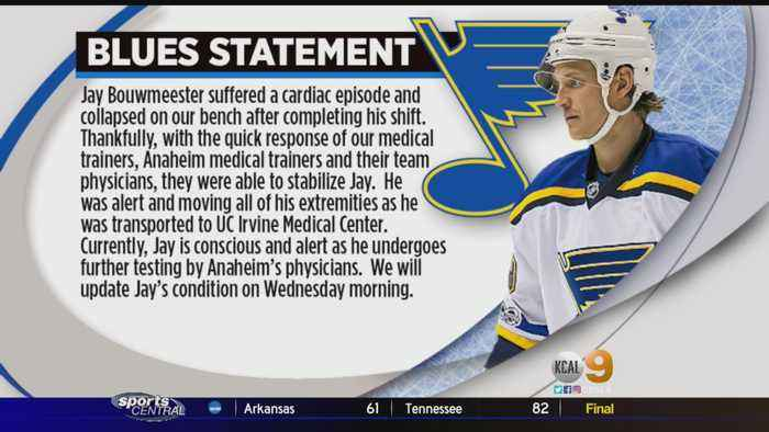 Ducks Game Postponed After Blues Player Collapses On Bench