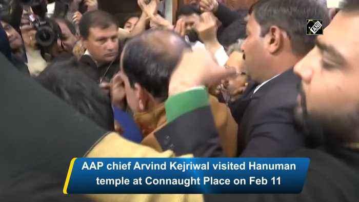 Lord Hanuman has blessed people of Delhi on Tuesday Kejriwal on AAP sweep