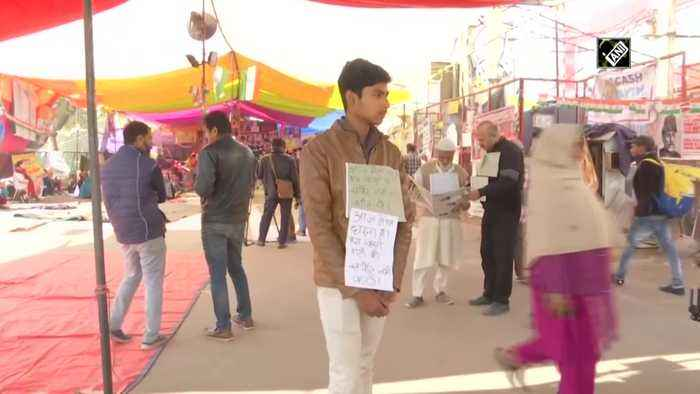 We dont support any party placards in Shaheen Bagh after AAP sweeps Delhi polls