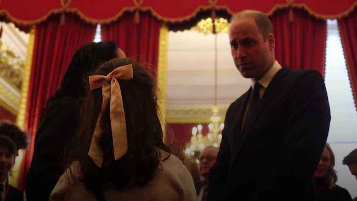 The Duke of Cambridge hosts reception for bereaved families of police officers